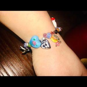 Rare beaded locket bracelet